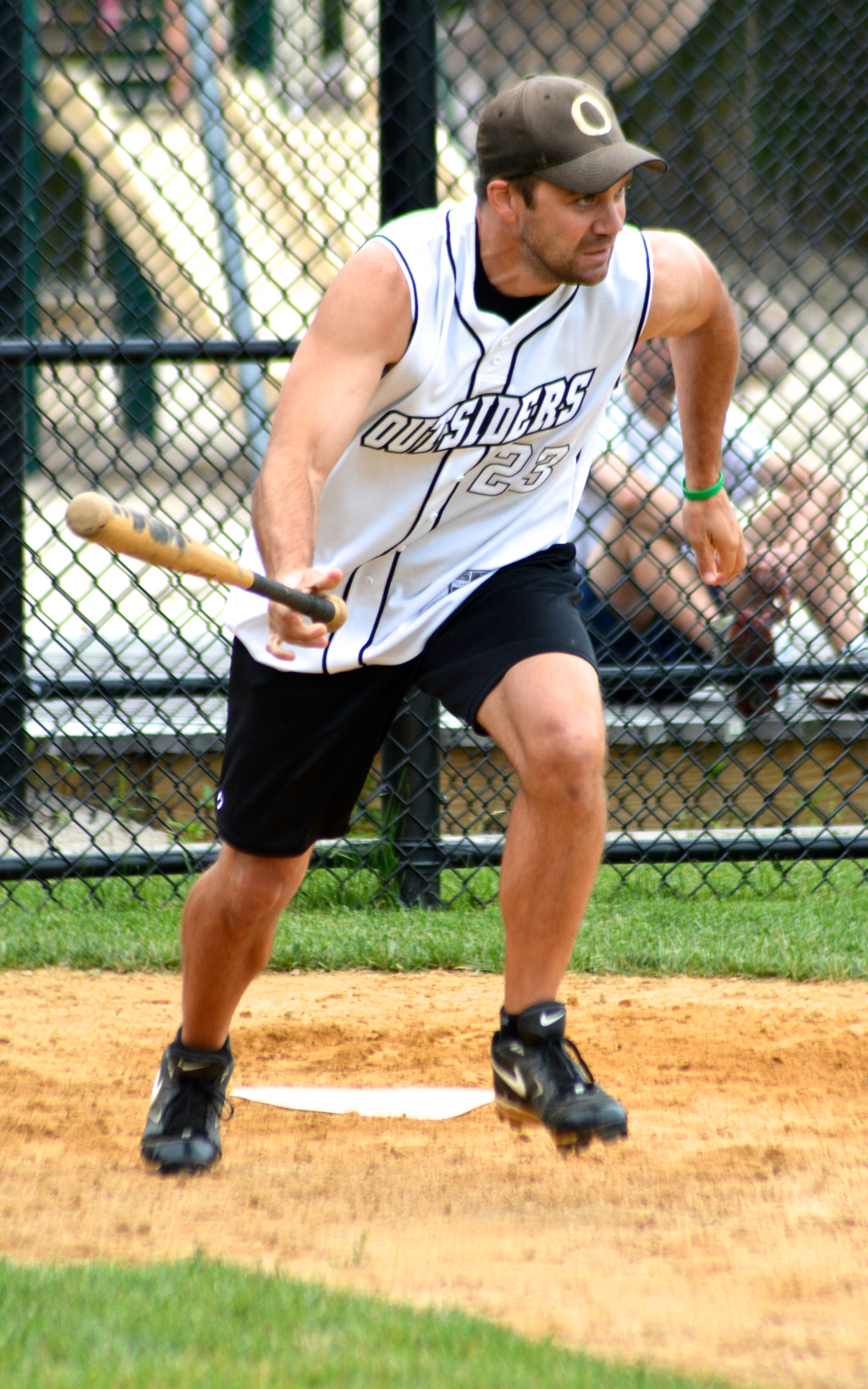Sean Boyle running to first base.