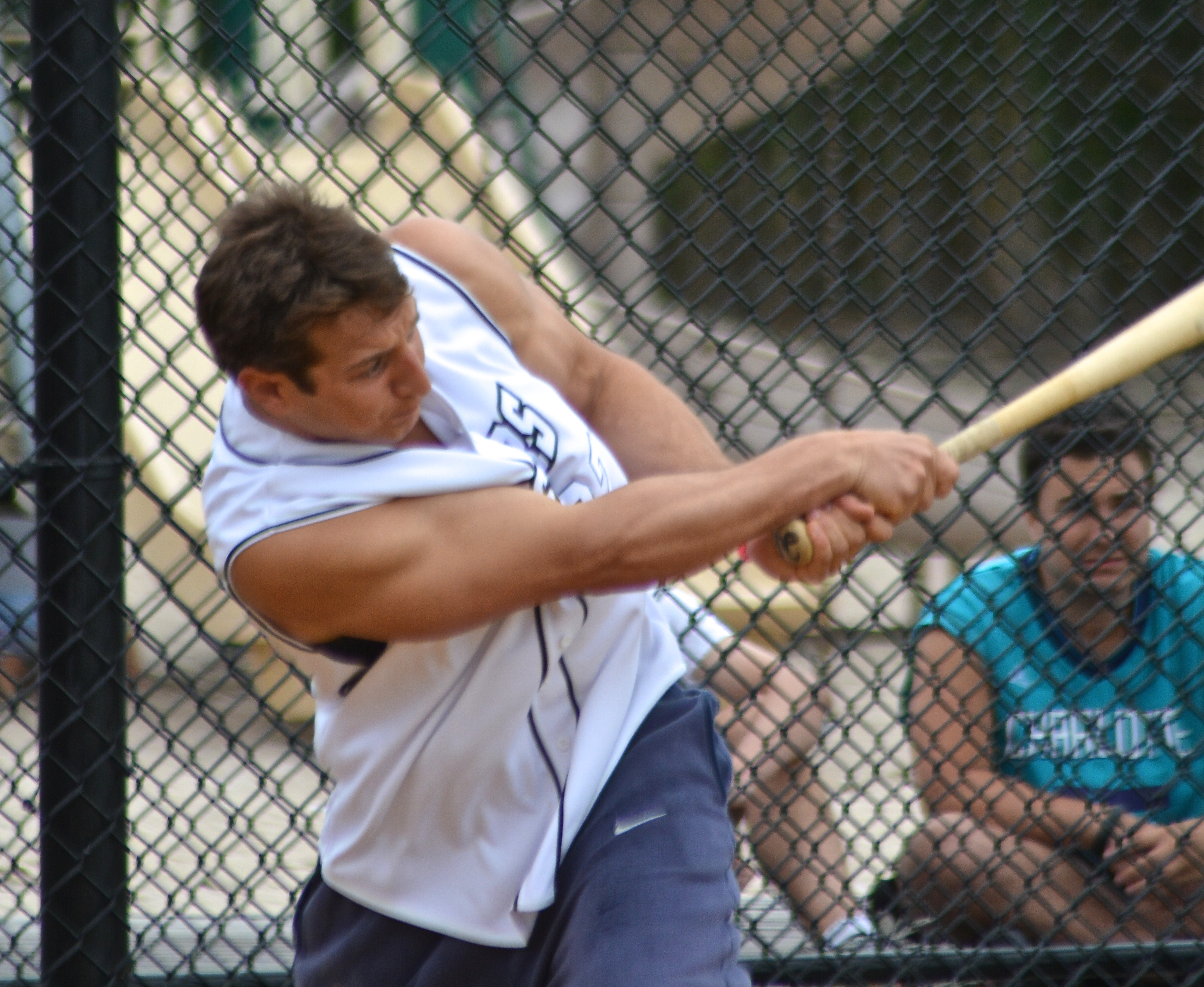 M ike Perna at bat.