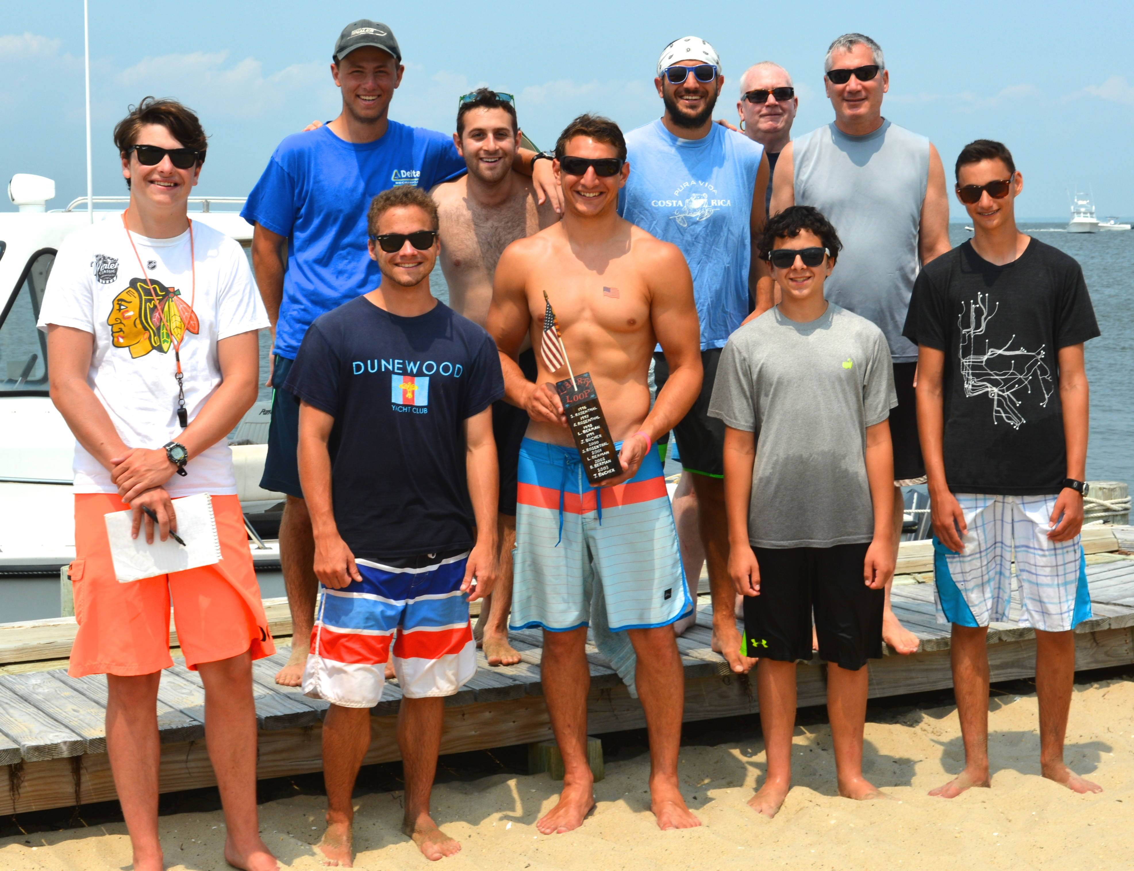 Racers from Left to Right - Top Row: Jake Singer, Oliver Roth, Rich Perna, Ernie Fritz, Matt Gilbert Front Row: Sam Bither, Emmett Weschler, Mike Perna, Jack Cutrone, Sanjay Day
